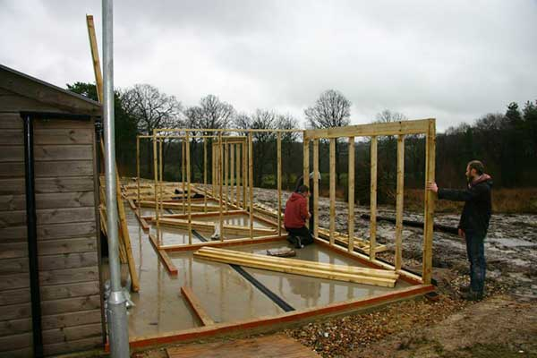 Building Commences On The Aviaries